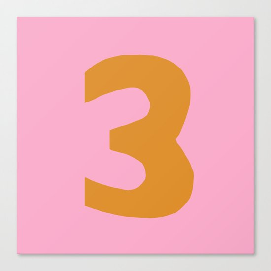Number 3 Canvas Print