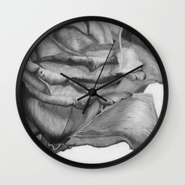 OPEN UP IN BLACK & WHITE Wall Clock