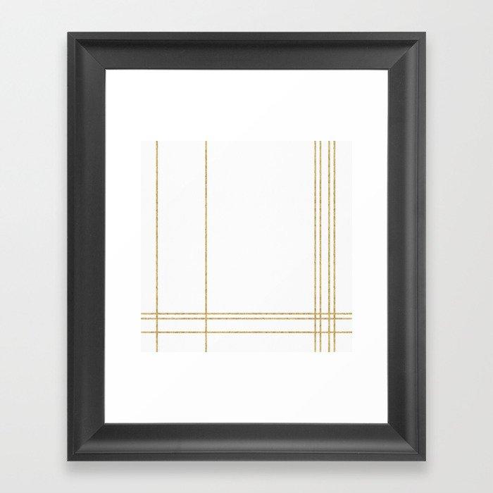 Gold Lines - 1 Gerahmter Kunstdruck