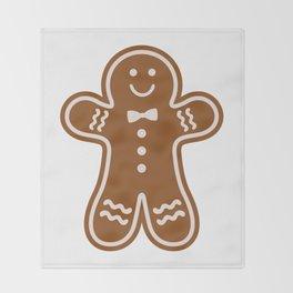 Gingerbread Hugs Throw Blanket