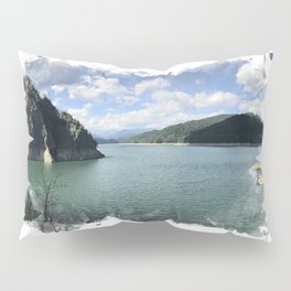 Vidraru Lake Landscape Pillow Sham
