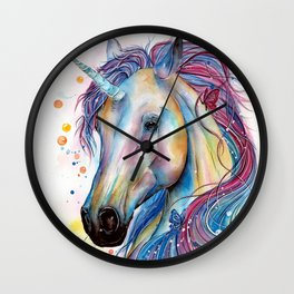 Whimsical Unicorn Wall Clock