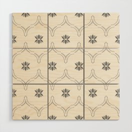 WILDFLOWER JASMIN GREY Wood Wall Art