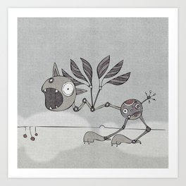 Grey Shrieky Art Print
