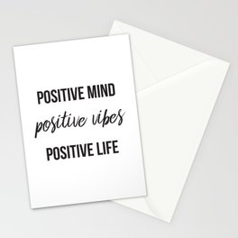 Positive vibes quote Stationery Cards