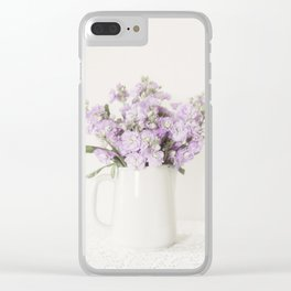 Lovely Lavender Clear iPhone Case