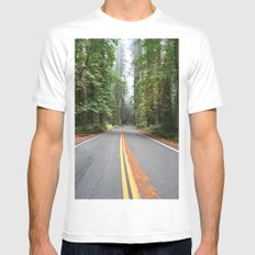 Avenue Of The Giants Mens Fitted Tee MEDIUM White