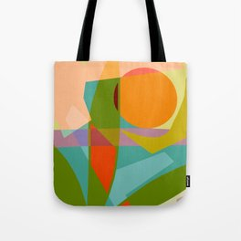 Shapes and Layers no.6 - Tropical Sunset Tote Bag
