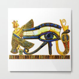 The Eye of Horus in the Sky Transforming into the Eye of Ra Metal Print