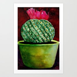 Little green Cactus Art Print