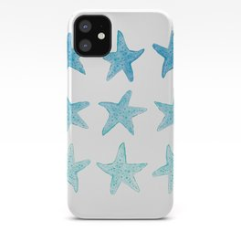 Blue Watercolor Starfish iPhone Case