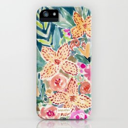 SMELLS LIKE MAUI PUNCH Floral iPhone Case