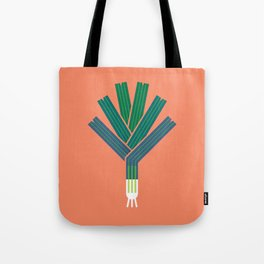 Vegetable: Leek Tote Bag