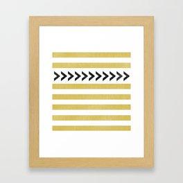 ARROW STRIPE {MUSTARD} Framed Art Print