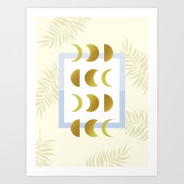 Golden Moon Phases Art Print