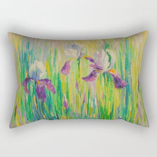 Morning with irises Rectangular Pillow