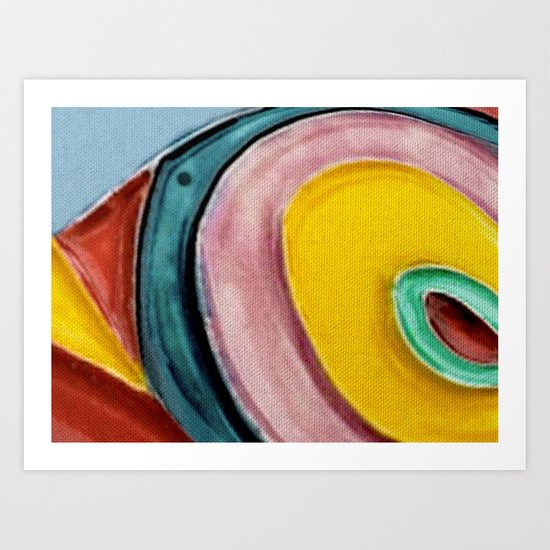 The Kandinsky's Chubby Bird 2 Art Print