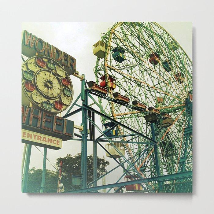 Coney Island Ferris Wheel Metal Print