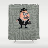 boss Shower Curtains featuring Boss by Glenn Melenhorst