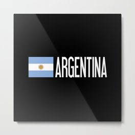 Argentina: Argentinian Flag & Argentina Metal Print