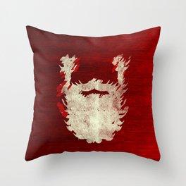 Santa Beard 1 Throw Pillow