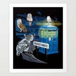 Hedwig Says Who! Art Print
