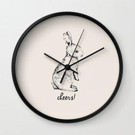 cheers little bunny Wall Clock