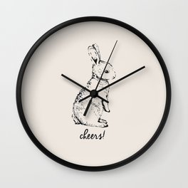 cheers little bunny Wall Clock