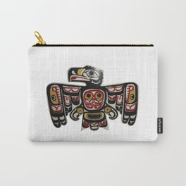 Northwest Pasific American Native Totem Cut In Wood No. 6 Carry-All Pouch