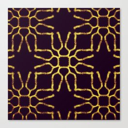 Tectonic Gold Canvas Print