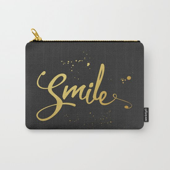 Gold Smile Quote  Carry-All Pouch