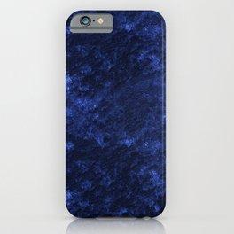 Royal blue navy velvet iPhone Case