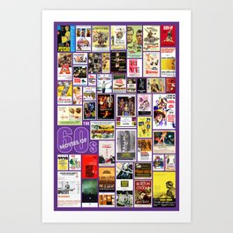 Great Movies of the 60s Art Print