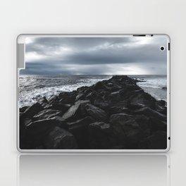Rocky Pier in Vík, Iceland Laptop & iPad Skin