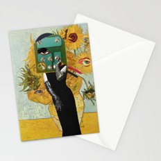 Marilyn meets Van Gogh Sunflowers Stationery Cards