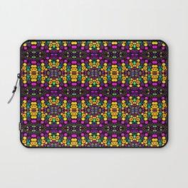 Yellow And Purple Mosaic Laptop Sleeve