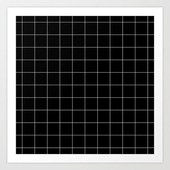 Black Grid /// www.pencilmeinstationery.com Art Print