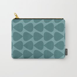 Plectrum Pattern in Teal and Turquoise Monochrome Carry-All Pouch