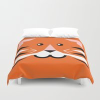 terry fan Duvet Covers featuring Terry tiger by Pygmy Creative