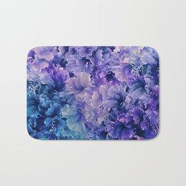 Hibiscus Flower Pattern Bath Mat