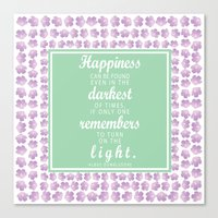 dumbledore Canvas Prints featuring Dumbledore Quote by KellieLynnCreations