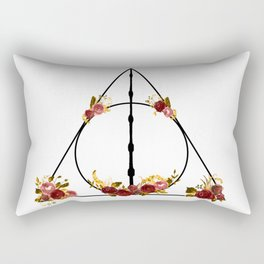 Deathly Hallows in Red and Gold Rectangular Pillow