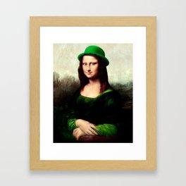 Lucky Mona Lisa - St Patrick's Day Framed Art Print