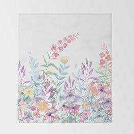 Sweet Spring Meadow Throw Blanket