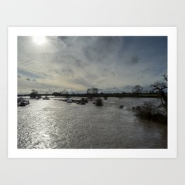 Flooded River Art Print
