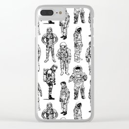 Astronauts and Flight Suits Clear iPhone Case
