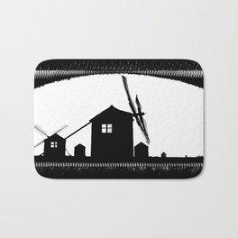 Windmill At Dusk Bath Mat