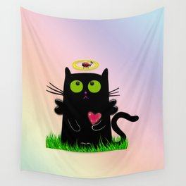 angel cat and ladybug Wall Tapestry