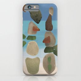 Finding Unexpected Sea Glass at the Beach #snowman #seaglass iPhone Case