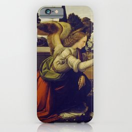 "Leonardo da Vinci ""Annunciation 1. (Archangel Gabriel)"" iPhone Case"